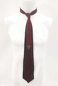 VITALIANO-PANCALDI-Maroon-Red-Black-Tribal-Sign-Mens-Silk-Tie-56-5-034
