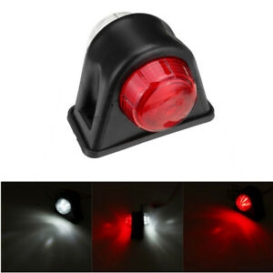 12V-24V-8-LED-Side-Marker-Lights-Indicatore-Rubbers-Lamp-Red-White-For-Trailer