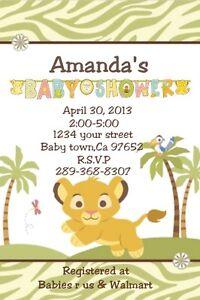 baby lion king baby simba personalized custom baby shower invitation