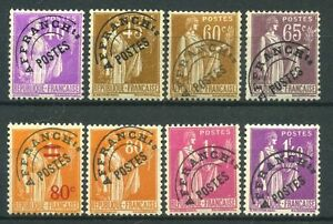 FRANCE-STAMP-PREOBLITERES-N-70-77-034-SERIE-PAIX-8-TIMBRES-034-NEUFS-xx-LUXE-B125