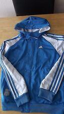 Adidas Deportes Top Chaqueta Acolchada con Capucha Desmontable 13 - 14 Años Azul Y Blanco