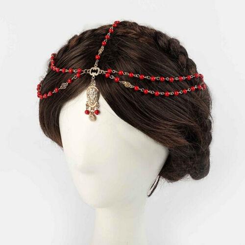 Women Stylish Metal Rhinestone Head Chain Jewelry Headband Head Piece Hair BanTB