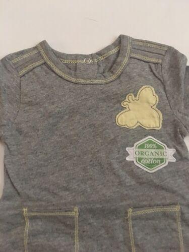 Burts Bees Baby Boy Organic combinaison chapeau taille 3 6 9 12 18 mois gris layette