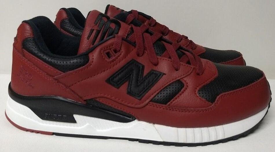 New balance tamaño 11 de Zapatos  de Hombre de 11 Cuero Negro Rojo Borgoña Sneaker M530VTB 26a6db