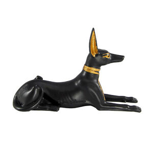 Small-Lying-Anubis-Statue-Egyptian-God-Jackal-Figure-Kemetic-Wicca-Pagan
