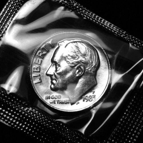1983 P Roosevelt Uncirculated Dime ~ From Souvenir Mint Set in Mint Cellophane