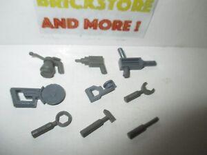 Lego-Dark-Gray-Tools-30228-30229-30194-6246-abcdef-Choose-Quantity