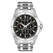 Bulova Classic Men's Quartz Chronograph Black Dial 43mm Bracelet Watch 96C107