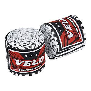 VELO Hand Wraps Bandages Boxing Inner Gloves Muay Thai MMA Cotton White