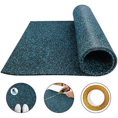 Rubber Flooring Mats Equipment Rolls 9.5mm 3.6/'x6.2 Non-Slip Home Gym