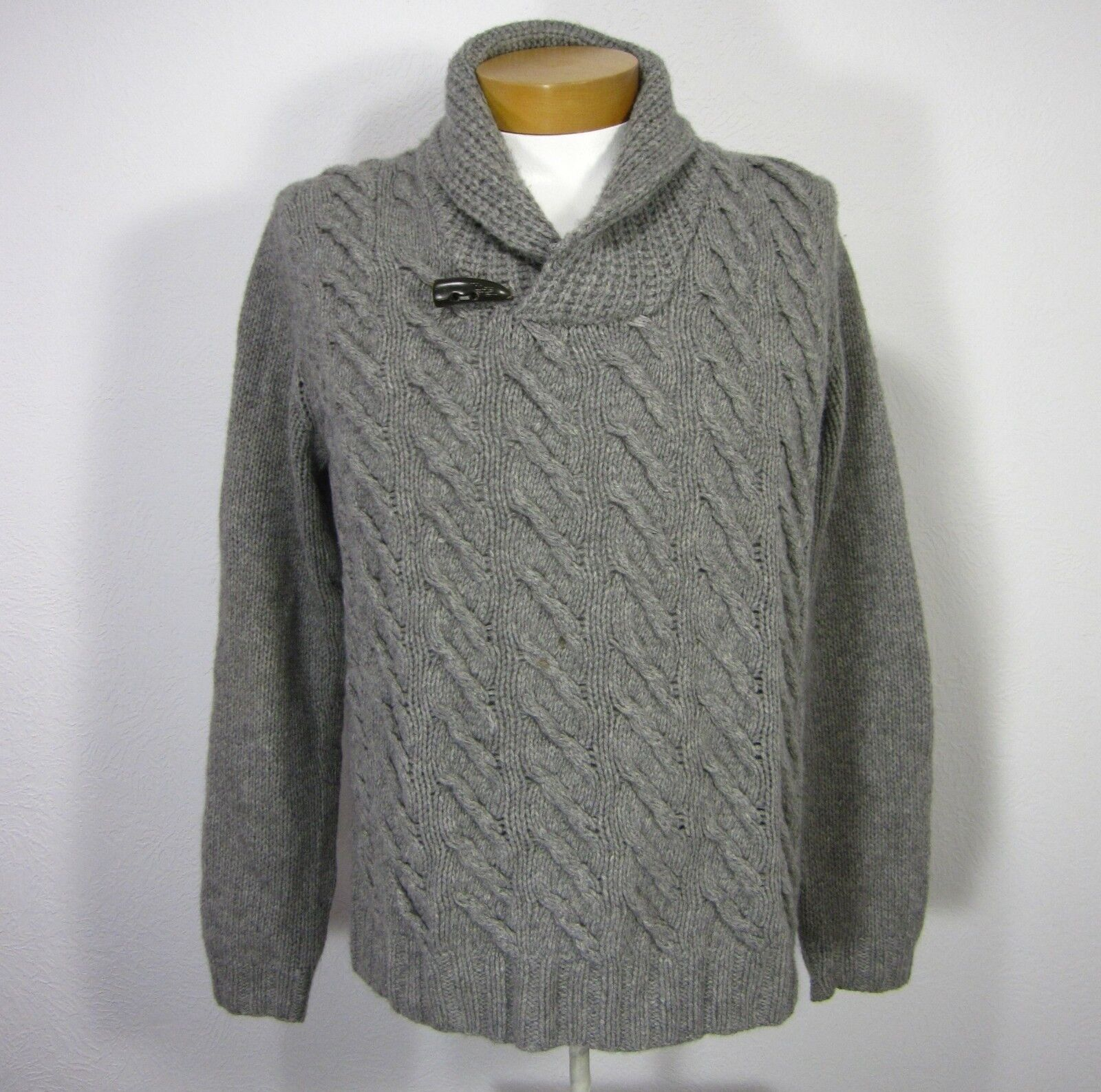 SAKS FIFTH AVENUE MEN CASHMERE HANDKNIT LONG SLEEVE SWEATER SIZE XL EXTRA LARGE