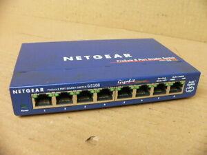 NETGEAR-ProSafe-GS108-8-port-Gigabit-Desktop-Switch-10-100-1000-Mbps-switch