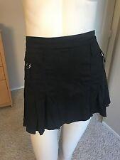 Bebe Black Mini Skirt Pleated short school girl Medium