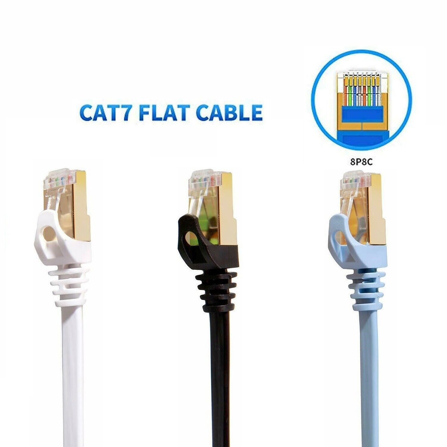 Cat5e Rj45 Ethernet Cable Shielded 26 Awg Pvc Jacket Gray 150 Ft