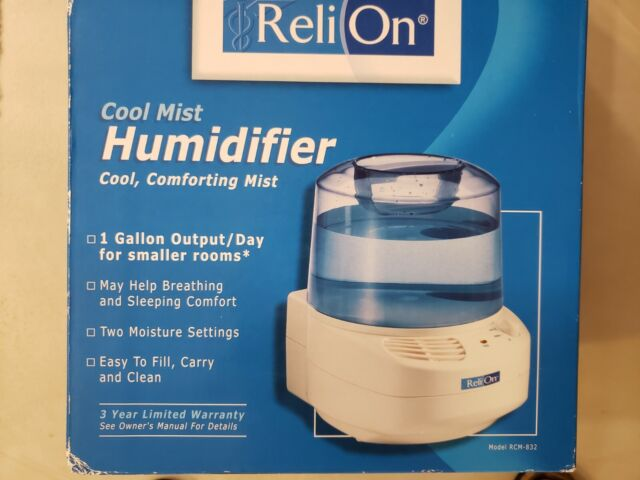 ReliOn Cool Mist Humidifier 1 Gallon Output Model RCM 832 w Replacement Filter