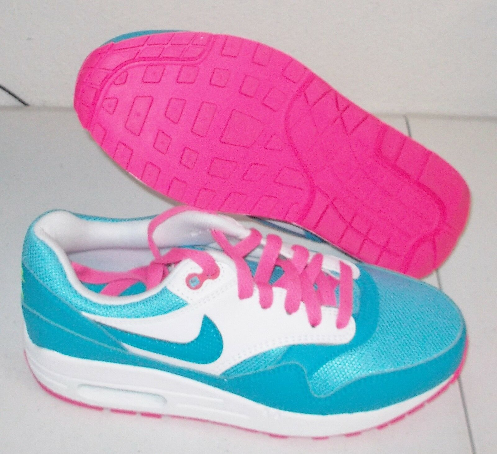 Nuove nike air max 1 donne (5y) clearwater rosa pow classico corsa limitata