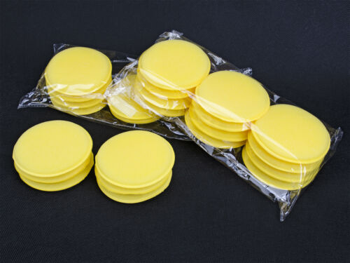 12x WAX APPLICATOR PADS DETAILING CAR CLEANING GLASS VALET FOAM