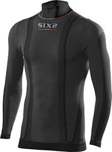 six2-CARBONE-Couche-de-base-sous-vetement-haut-chaud-manches-longues-noir-XL