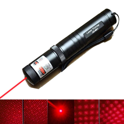 Powerful Red Laser Pointer 1mw 532nm JD851 Laser Pen Light Beam Foucs Zoomable