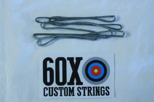 "60X Custom Strings 53/"" Fast Flight Silver Recurve Bowstrings Bow String"