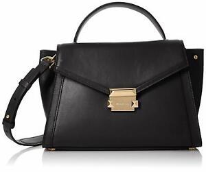 Details about Michael Kors Whitney Medium Top Handle Satchel Bag, Black $298