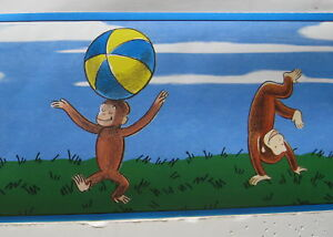 Image Is Loading CURIOUS GEORGE MONKEYS TOYS Wallpaper Border 6 034