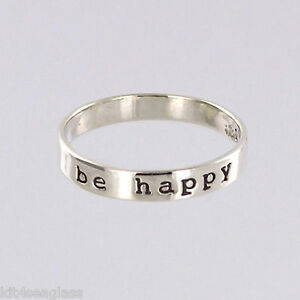 Far-Fetched-Be-Happy-Apilable-Anillo-Talla-6-7-8-Plata-de-Ley-Papel-Regalo