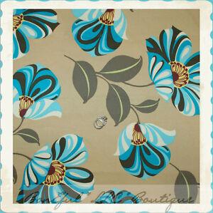 Boneful Fabric Fq Cotton Home Decor Rowan Vtg Amy Butler Large Blue Green Flower Ebay