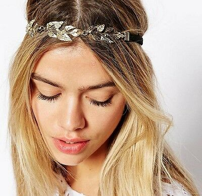 Fashion Women Metal Rhinestone Head Chain Jewelry Headband Head Piece Hair band