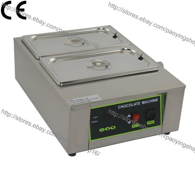 Acier Inoxydable 110 V 220 V Electric 8 kg chocolat fondeuse à chaud avec 2 Melting Pot
