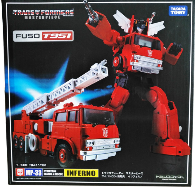 Transformers Inferno Takara MP33 MP33 KO azione cifra 18cm Autobots In Stock