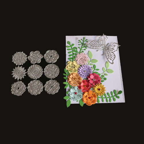 Various Flower Cutting Dies Stencil Scrapbook Paper Cards Craft Embossing DIY
