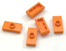 Lego Lot of 5 New Orange Plates Modified 1 x 2 with 1 Stud  Groove Jumper Pieces