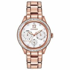 28cd575654 Citizen Eco-Drive Women's FD2013-50A Silhouette Chronograph Rose Gold Watch