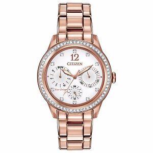 Citizen-Eco-Drive-Women-039-s-FD2013-50A-Silhouette-Chronograph-Rose-Gold-Watch