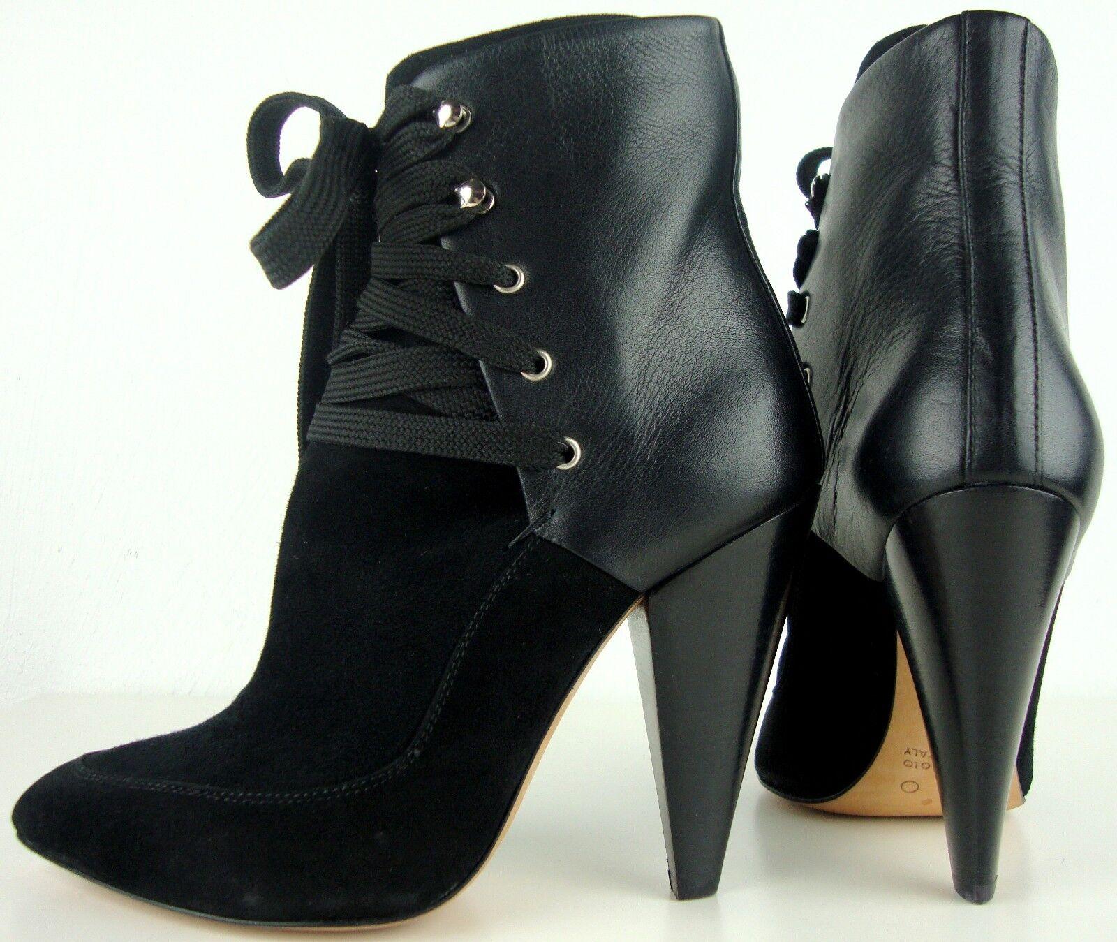 Iro botines de cuero botines zapatos de diseño botas semi Black nuevo