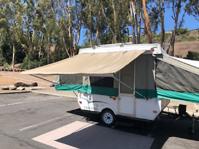 7ft Awning Beige, Pop Up Tent Trailer, Camping Trailer, RV ...