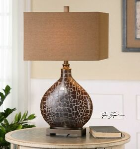 Image Is Loading Giraffe Print Etched Glass Table Lamp Africa Jungle