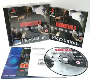 Resident-Evil-3-Sony-Playstation-ps1-Black-Label-PAL-Spiel-NEAR-MINT-CIB