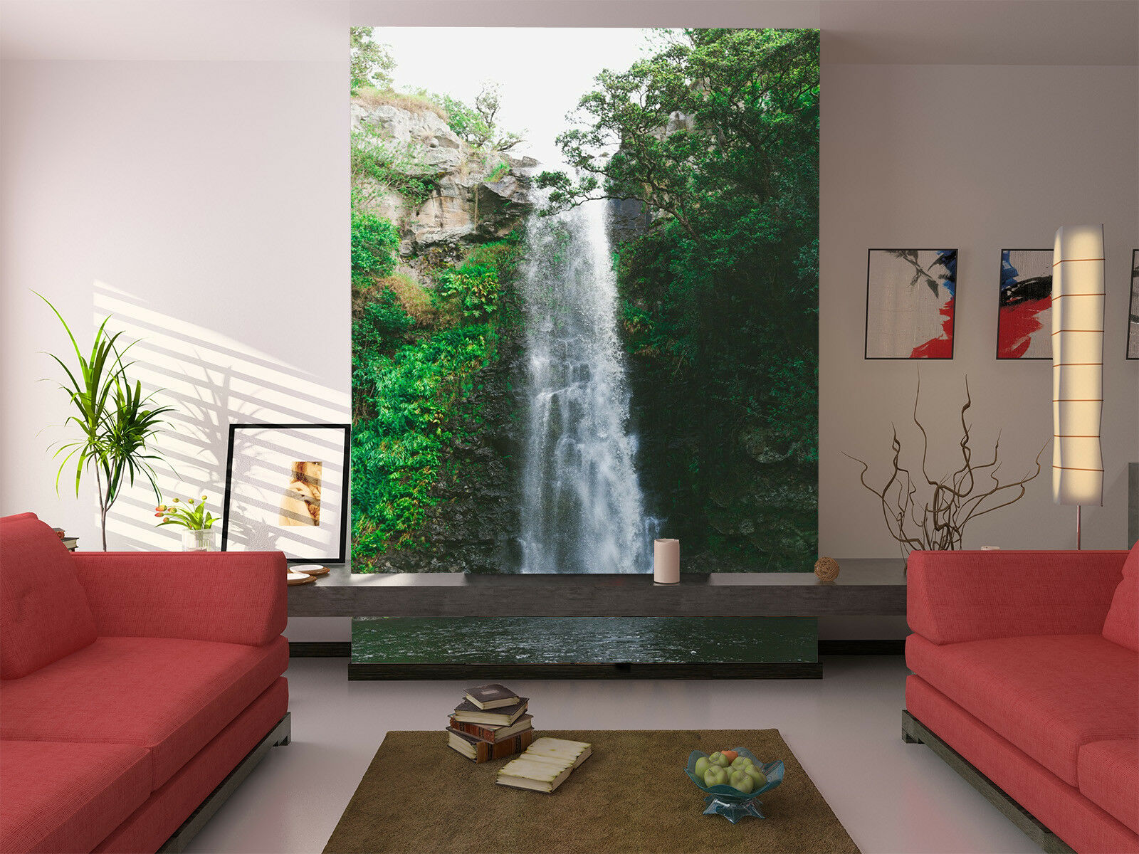 3D Waterfall 448 Wallpaper Murals Wall Print Wallpaper Mural AJ WALL AU Kyra