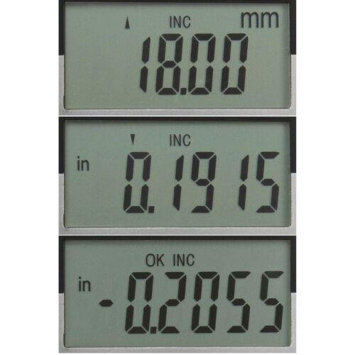"""Digital Electronic Indicator 1/""""//0.0005/"""" Gauge 4 Probes Absolute Hold Inch//Metric"""