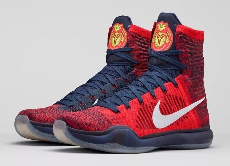 Nike Kobe X 10 Elite American USA Olympic Red White Navy Blue 8 Independence Day