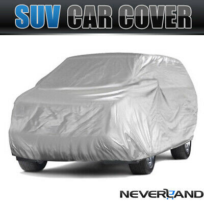 XL Polyester Waterproof Full SUV Car Cover Dust UV Rain Heat Resistant Protector