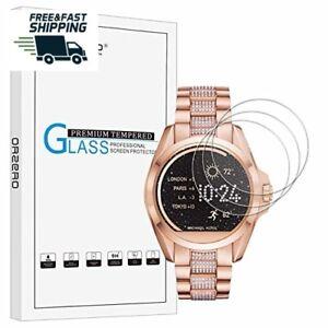 closer at latest fashion later Details about 3 Pack Hd Michael Kors Accede Bradshaw Reloj Protector De  Pantalla De Vidrio