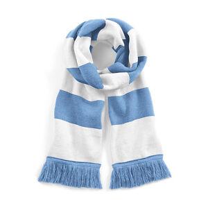 Sky Blue White Retro Football Club Bar Scarf In Manchester Man