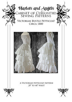 Victorian Bustle Petticoat Sewing Pattern 1880's Steampunk Bustle skirt,