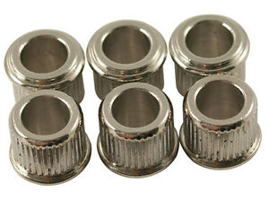 Kluson-Adapter-bushings-1-4-034-Nickel-set-of-6-MB65N-L-US