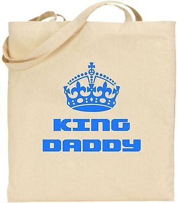 King Daddy Groß Baumwolltasche Einkaufstasche Vatertag Papa Krone Dad
