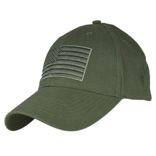 American Flag OD Green Baseball Cap United States Hat
