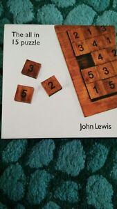 John Lewis En Bois Numéro Puzzle Tous En Boîte 15 In (environ 38.10 Cm)-afficher Le Titre D'origine